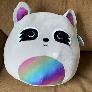 """Squishmallow """" MAX"""" large Raccoon New Large"""